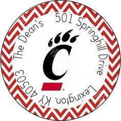 167 University of Cincinnati/ UC Bearcats by BluegrassWhimsy, $5.00