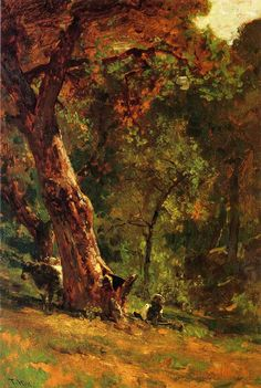 Landscape Paintings   Painting Inspiration   Painting Ideas   Thomas Hill, Chinese Man Tending Cattle