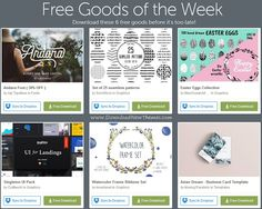 Download these weeks awesome 6 #free premium #graphics #design goods before its too late! they are as follows: Andara Font, Set of 25 seamless pasterns, Easter Eggs collection, Singleton UI pack, Watercolor Frame ribbons set and Asian Dream - Business Card Template.