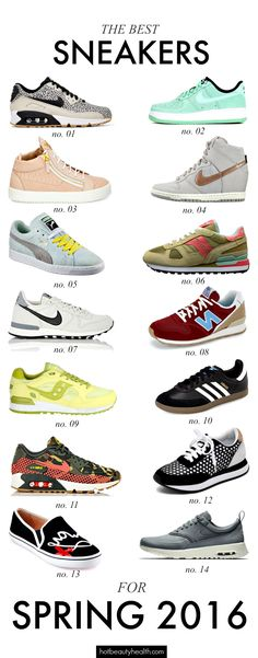 Spring Fashion: Sneakers have come in a variety of colors and styles this spring. Check out our list of the best sneakers for spring 2016!