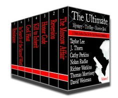 #Boxedset #Kindle #Mystery #99Cents- 7 Authors The Ultimate Mystery Thriller Horror Box – 7 best-selling & award-winning authors 99cents for a limited time only -12/18 to 12/27/2013 Prepare for the ultimate wild ride, whether you're looking for ghostly or sexy detectives, family and military dramas, mind-twisting space opera, or a fast-paced, edge-of-your-seat, crime-thriller, there's a sizzling suspense, dramatic mystery, or a shattering dark fantasy w