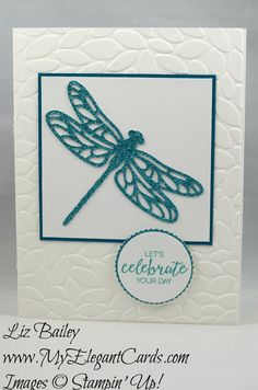 My Elegant Cards - Liz Bailey - Independent Stampin' Up! Demonstrator - Detailed Dragonfly Thinlits Dies - Bunch of Blossoms - Petal Burst TIEF - Layering Circles Framelits Dies Picture Frame Crafts, Cards For Friends, Friend Cards, Alcohol Ink Crafts, Vase Crafts, Bee Cards, Stampin Up Catalog, Butterfly Cards, Pretty Cards