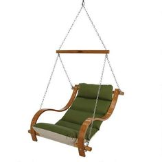 Merveilleux Single Swing With Oak Arms   Canvas Turf By Hatteras Hammocks