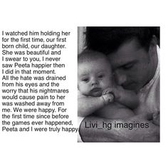 Peeta and his daughter