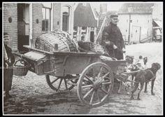 Premiefoto, hondenkar Datum 1920 Japie Lindeboom en Kees Kil #NoordHolland #Volendam
