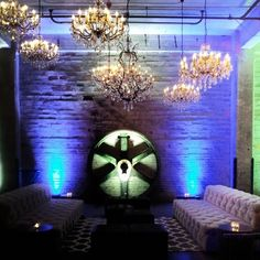 Our Sohos make everything more awesome..#nofilter #mpls #mn #party #lights #chandeliers #eventdecor #warehouseparty