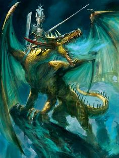 The Dragon Princes of Caledor are renowned warriors on Ulthuan. Though their glory has long since diminished, there are still a few who cary on and ride one of the few remaining dragons that have not fallen to eternal slumber