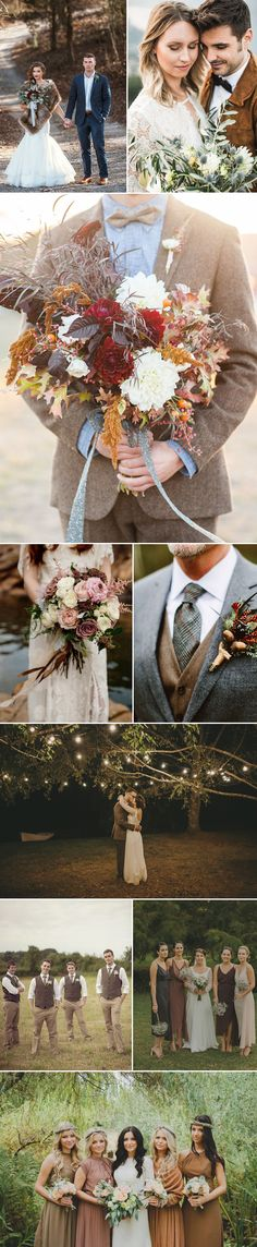 Chestnut browns are quickly becoming the beloved wedding palette by brides and grooms who are looking for neutrals that are anything but -basic.
