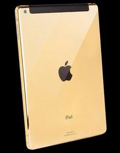 A 24 ct. gold iPad air.
