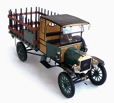 Entex (Bandai molds) 1/16 scale Ford 1914? Model T Stake Truck.