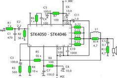 STK 4050 - 200Watt Power Amplifier Circuit - Amp Circuit Diagram