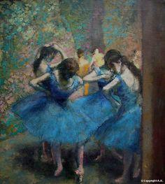 Edgar Degas Danseuses Bleues