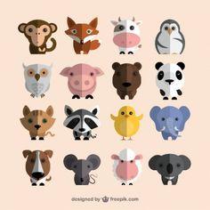 Coleção dos animais bonitos