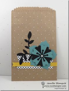 So Long Flower Frenzy Die with a Polka Dot Treat Bag & Birthday Card | Northwest Stamper