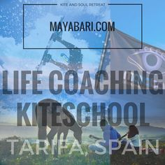 Discover life coaching with us and get back your full potential! Book your week of kite and soul, have a look at what we do here: www.mayabari.com   .
