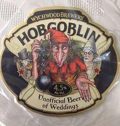 Wychwood Brewery Hobgoblin Beer of Weddings New Pump Clip Beer Wedding, Homemade Beer, Beer Mats, Good Whiskey, Beer Snob, How To Make Beer, Beer Brewing, Craft Beer, Oktoberfest