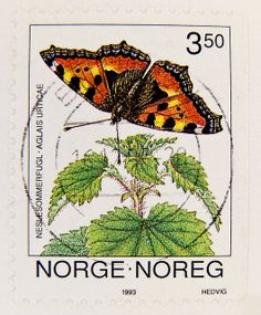 the most beautiful collectable stamp | beautiful stamp Noreg Norge 3.50 kr. butterfly Aglais Urticae ...