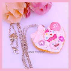 Sugar Cookie Necklace  Decoden Whipped Frosting by tranquilityy