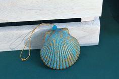 Nautical Ornaments - Scallop Shell Ornament - Beach Ornament - Coastal Christmas Ornaments - Beach Christmas - Sea Shell Ornaments- Seashell