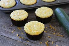 Zucchini Cheddar Corn Muffins from Two Peas and Their Pod