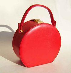 60's bucket purse | Vintage 60s Red Vanity Case Handbag Pocketbook Purse Bloomingdales