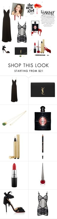 """Drop Dead Gorgeous"" by marleyitucker on Polyvore featuring Prada, Yves Saint Laurent, Tiffany & Co., MAC Cosmetics, Christian Louboutin, Agent Provocateur and party"