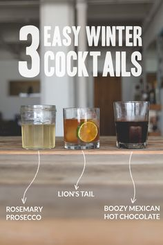 Get Sh*t Done: Three Easy Winter Cocktail Recipes For Weddings | A Practical Wedding