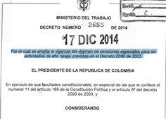 Decreto 2655 del 2014- Por el cual Por el cual se amplía la vigencia del régimen de pe