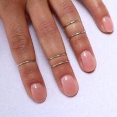 Boho Chic Midi Ring Set Silver