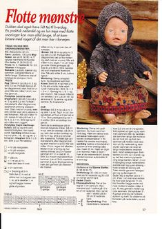Album Archive - Dukketøj til Baby Born 2 - Ingelise Knitting Dolls Clothes, Baby Doll Clothes, Doll Clothes Patterns, Doll Patterns, Knit Patterns, Clothing Patterns, Baby Dolls, Crochet Dolls, Crochet Baby