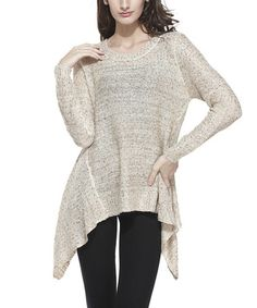 Another great find on #zulily! Oatmeal Sequin Sidetail Tunic - Women #zulilyfinds