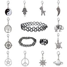 #12 #�Anhänger #  #3 #�Tattoo #Choker #Halsband #Halskette #Armband #Ring #Set #�and