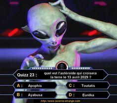 Quizz23 : Quel est l'astéroïde qui croisera la terre le 13 avril 2029 ?