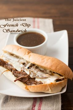 The juiciest french dip we've ever had. We like this recipe better than restaurants! ohsweetbasil.com