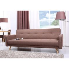Abbyson Living Lorenzo Khaki Tufted Sleeper Sofa | Overstock™ Shopping - Great Deals on Abbyson Living Futons