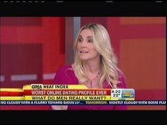 Donna Barnes on GMA: Online Dating Tips (+playlist) Heat Index, Online Dating Profile, Do Men, Dating Tips, How To Apply, Relationships, Romance, Friends, Romantic