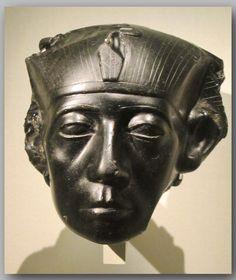 King Sesostris III. Fragment of a Head. Obsidian. Original provenance unknown. Gulbenkian Museum, Lisbon.