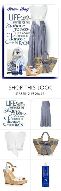 """""""Straw Bag"""" by lorrainekeenan ❤ liked on Polyvore featuring Poesia, Federica Tosi, WithChic, Filippo Catarzi, MICHAEL Michael Kors and Paul Mitchell"""