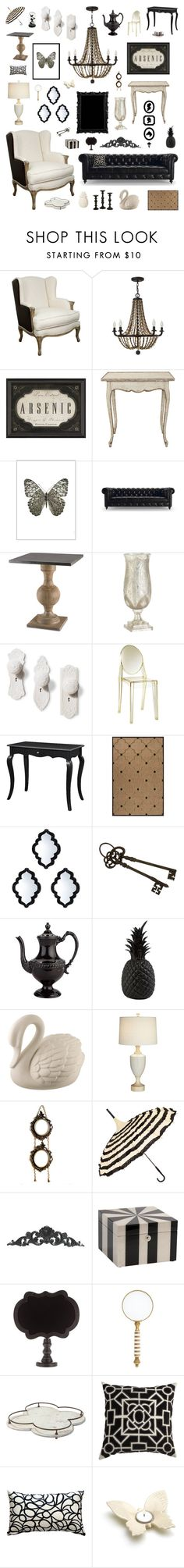 """modern victorian"" by crystalliora on Polyvore featuring interior, interiors, interior design, home, home decor, interior decorating, Dot & Bo, Fredrick Ramond, Amara and Currey & Company"