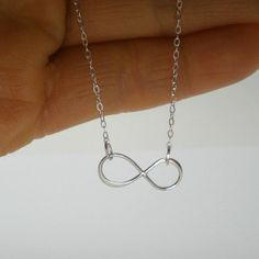 Infinity Necklace  Sterling Silver Infinity by StarringYouJewelry, $20.00