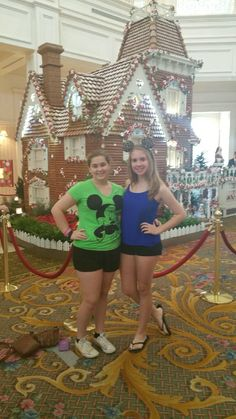 the grand Floridian gingerbread house was huge!