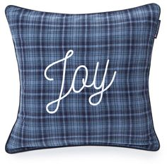 Lexington Joy Sham Blue ($61) ❤ liked on Polyvore featuring home, bed & bath, bedding, bed accessories, blue, winter bedding, blue shams, cotton bedding, modern bedding and blue pillow shams