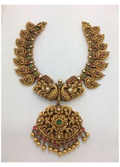 Jewelry Design Earrings, Gold Jewellery Design, Necklace Designs, Gold Temple Jewellery, Mango Mala Jewellery, Silver Jewellery, Antique Jewellery Designs, Gold Jewelry Simple, Antique Necklace
