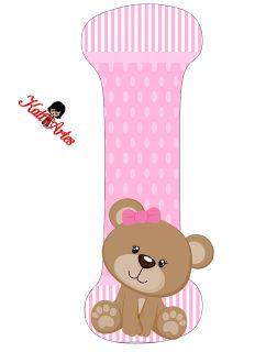 Alfabeto de tierna osita con fondo rosa. | Oh my Alfabetos! Clipart Baby, Letras Baby Shower, Bear Theme, Baby Shawer, Bear Party, Bear Pictures, Baby Shower Princess, Scrapbooking, Alphabet And Numbers