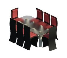 Dining Table w/ Chairs Revit Family, Chairs, Dining Table, Models, Places, Stuff To Buy, Templates, Dinner Table, Stool