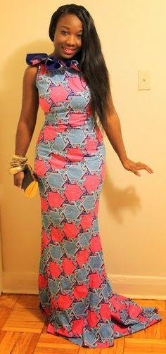 African Dresses Ankara Long Gown - DeZango Fashion Zone