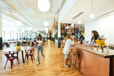 Airbnb and WeWork Test a Shared Workspace Program for Business Travelers  The WeWork Cheslea Community Bar in New York City. Airbnb and WeWork are working together on a pilot program that would allow Airbnb guests to have access to WeWork coworking spaces. WeWork  Skift Take: This kind of partnership makes a lot of sense for a number of reasons especially as Airbnb attempts to grow its business travel business even more on that road to an IPO. It will also be interesting to see if WeWork…