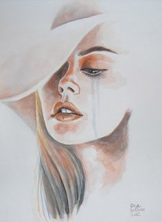 secret pain by ericadalmaso - Watercolor Paintings by Erica Dal Maso <3 <3