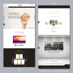 Website page design template vector 01