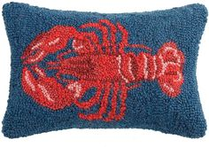 Phi Lobster Wool & Cotton Pillow